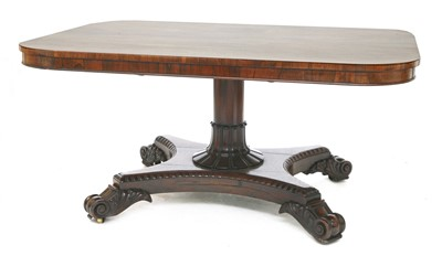 Lot 125 - A Regency rosewood centre table