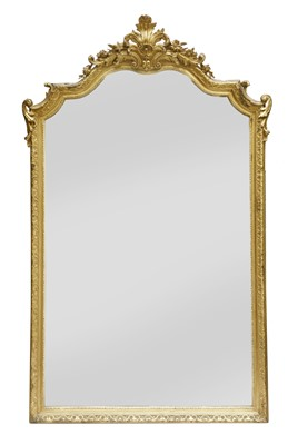 Lot 181 - A Victorian giltwood and gesso overmantel mirror