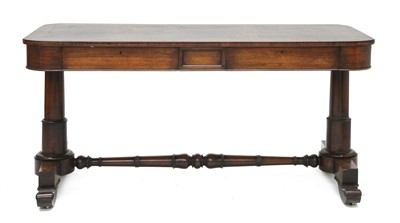 Lot 127 - A Victorian rosewood stretcher table