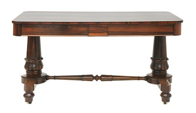 Lot 114 - A Victorian rosewood centre table