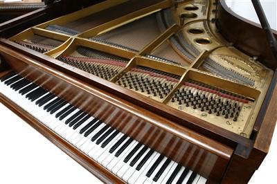 Lot 24-A Steinway mahogany 'Model O Boudoir' grand piano