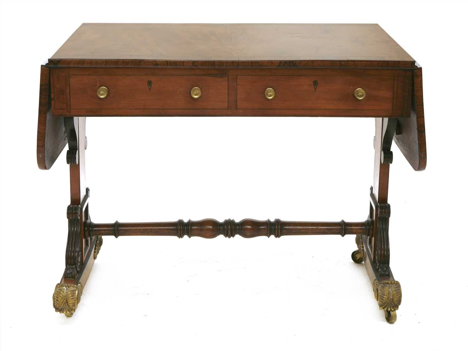 Lot 17-A Regency mahogany sofa table