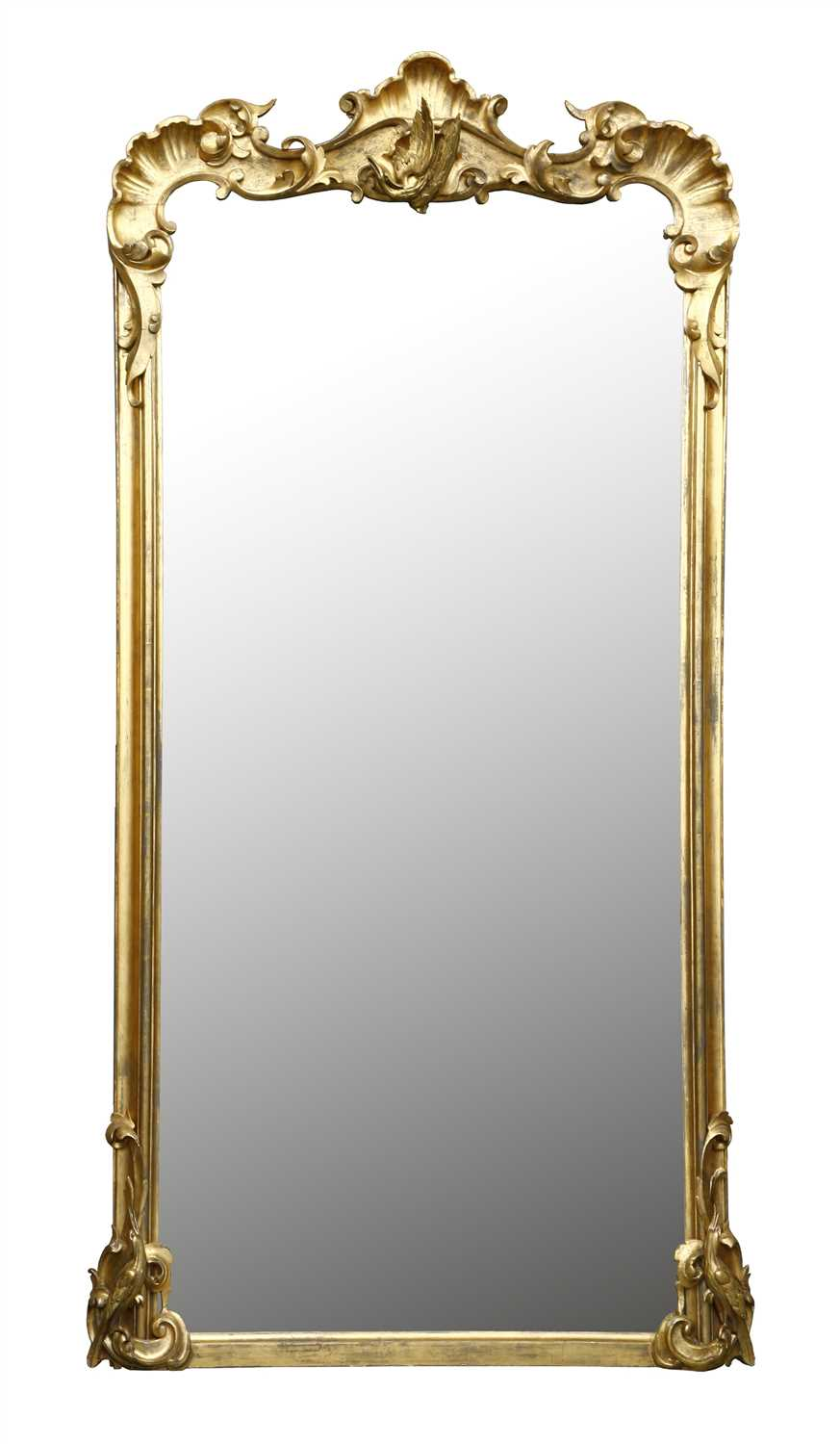 Lot 55 - A pair of large Victorian giltwood pier mirrors