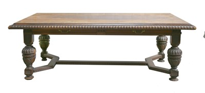 Lot 118 - A Victorian walnut library table