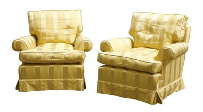 Lot 30-A pair of modern armchairs