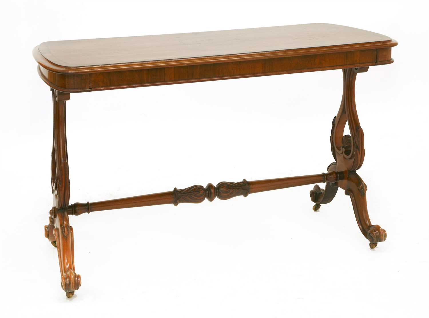 Lot 22 - A Victorian stretcher table