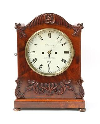 Lot 138 - A William IV mahogany mantel clock