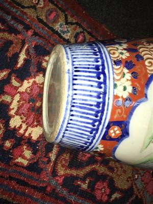 Lot 47 - A pair of Imari baluster vases