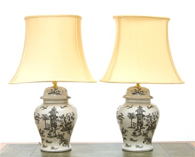 Lot 35 - A pair of table lamps