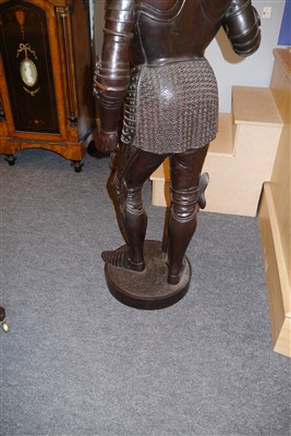 Lot 679 - A well carved Continental walnut figure