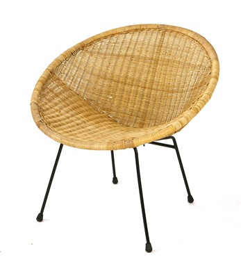 Lot 46-A wicker chair