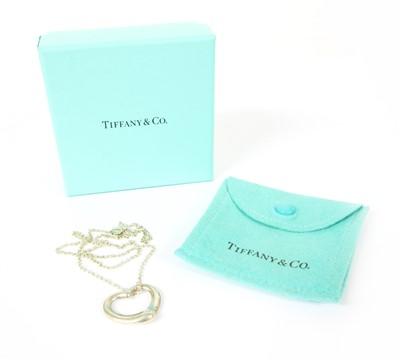 Lot 1-A Tiffany & Co. Elsa Peretti silver heart pendant