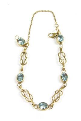Lot 7-A blue topaz bracelet
