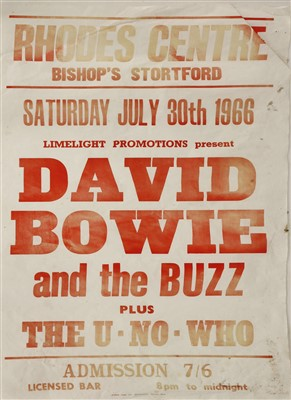216 - A David Bowie and The Buzz concert poster,