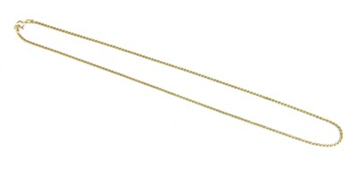 Lot 2-A 9ct gold 'S' link necklace