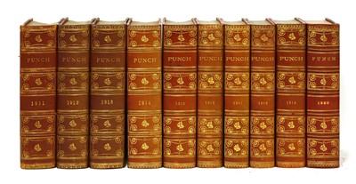 Lot 95 - Punch Magazine: 35 volumes; 1882-1920