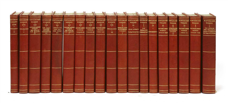 Lot 86 - 1- Nietzsche, F: Works (in German)