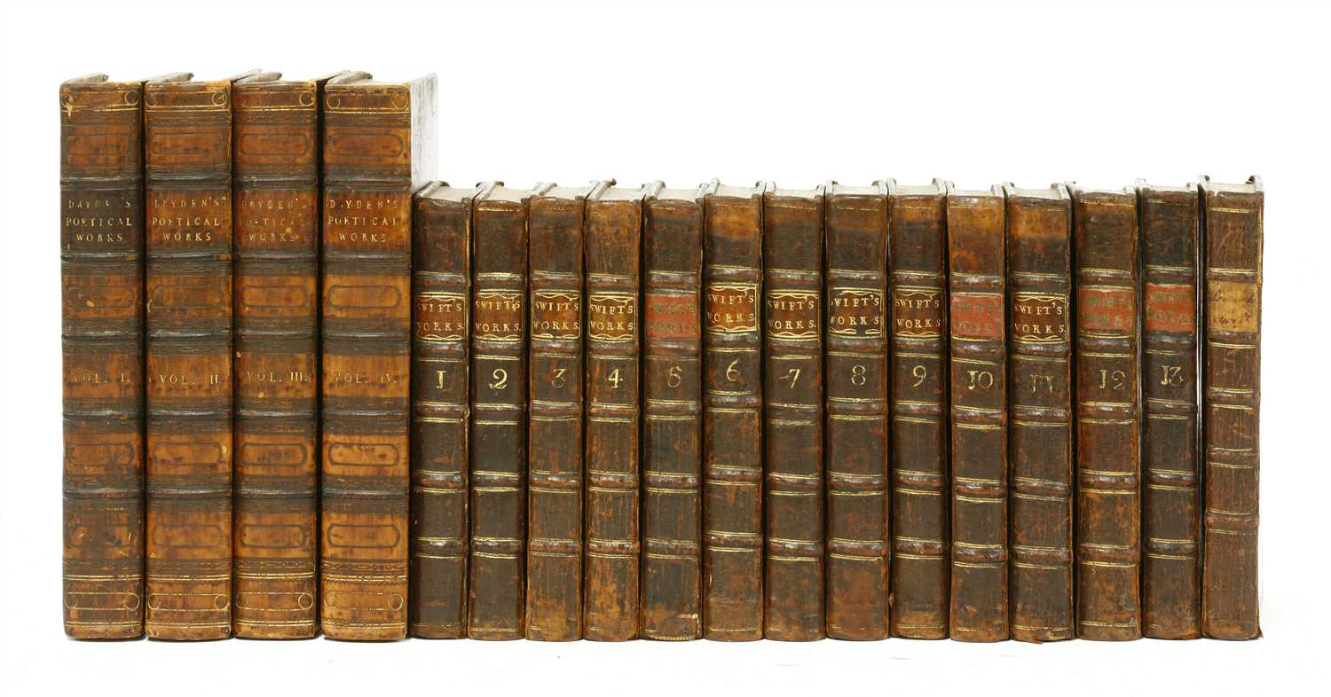 Lot 73 - 1- SWIFT: Works. 13 volumes, including Miscellanies