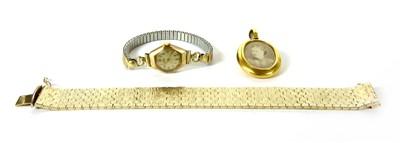 Lot 4-A ladies 9ct gold bracelet watch