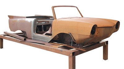 Lot 6-A c.1960s Amphicar Model 770 Body shell