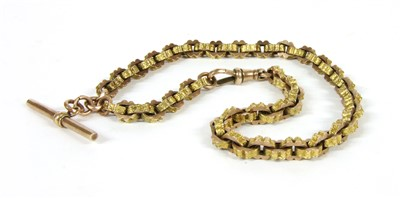 Lot 2-A 9ct rose and yellow gold chain