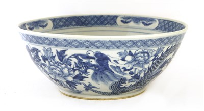 Lot 24-A Chinese blue and white punch bowl