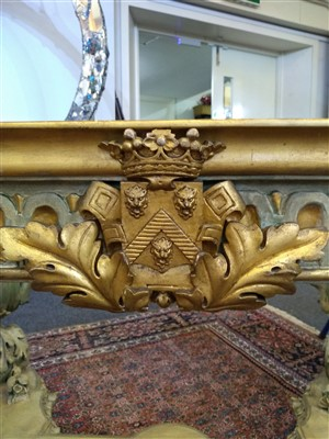 Lot 582 - A George II-style carved gilt and painted pier table
