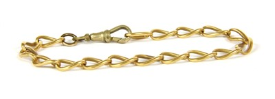 Lot 1-An 18ct gold curb chain bracelet