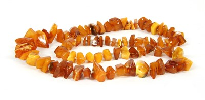 Lot 7-A butterscotch and yellow amber shard necklace