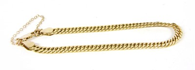 Lot 42-A 9ct gold filed curb link bracelet