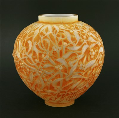 Lot 274-A Lalique 'Gui' glass vase