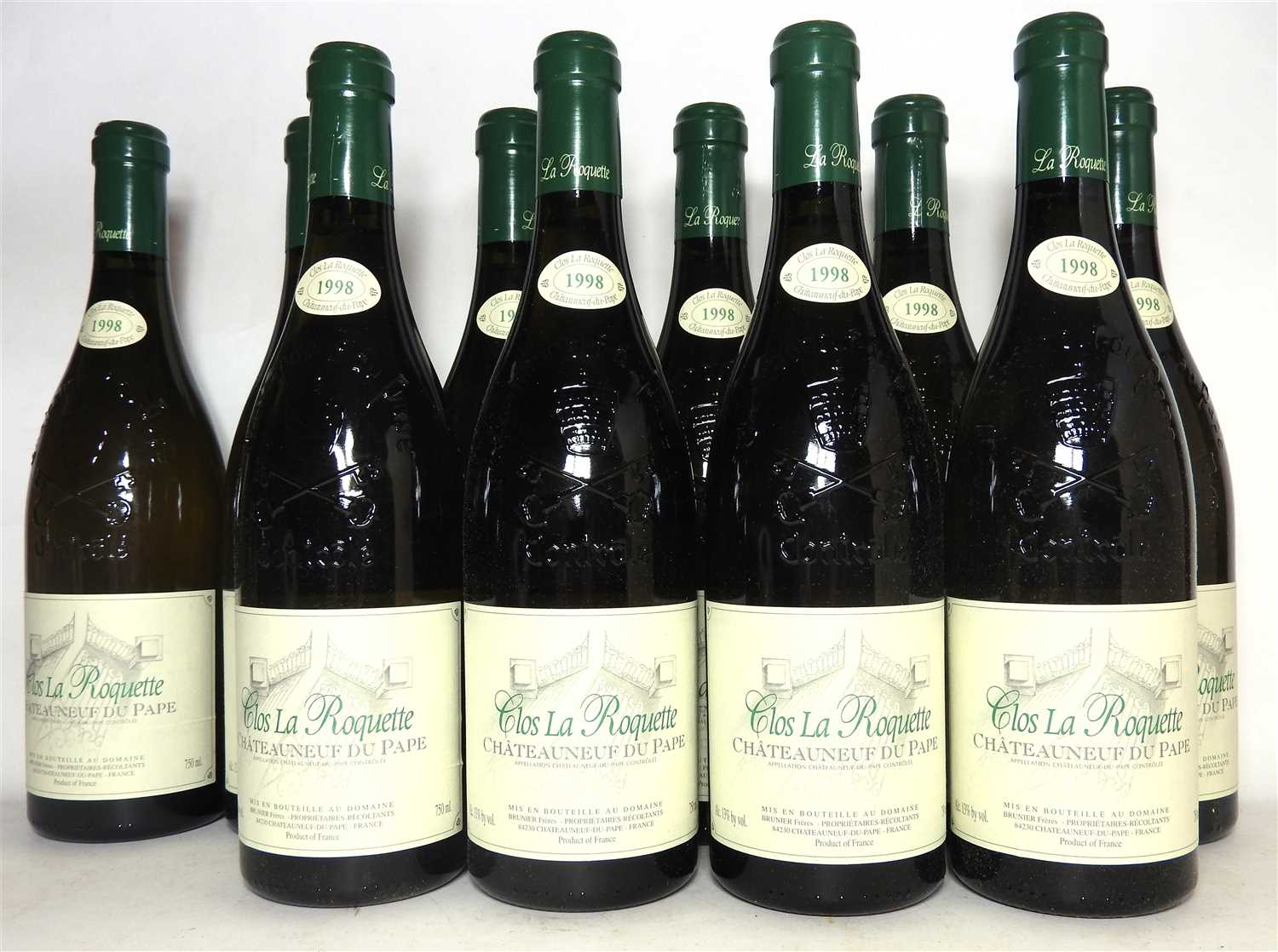 Lot 3-Clos La Roquete, Châteauneuf-du-Pape, 1998, ten bottles (in box for twelve bottles)