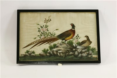 Lot 307 - A collection of five Chinese pith paper paintings