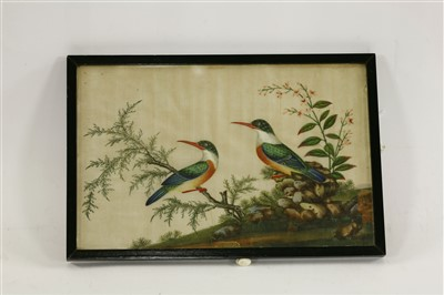 Lot 307-A collection of five Chinese pith paper paintings