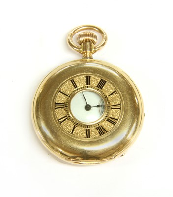 Lot 11-An 18ct gold fob watch