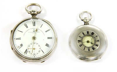 Lot 16-Two silver cased pocket watches