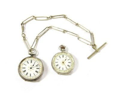 Lot 12-Two ladies fob watches