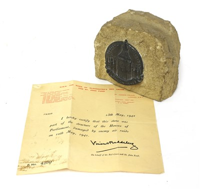 Lot 8-A STONE FROM THE HOUSES OF PARLIAMENT