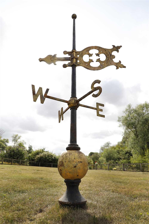 A large Victorian cast iron weathervane,