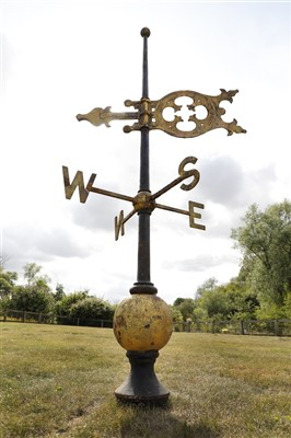 Lot 23-A large Victorian cast iron weathervane