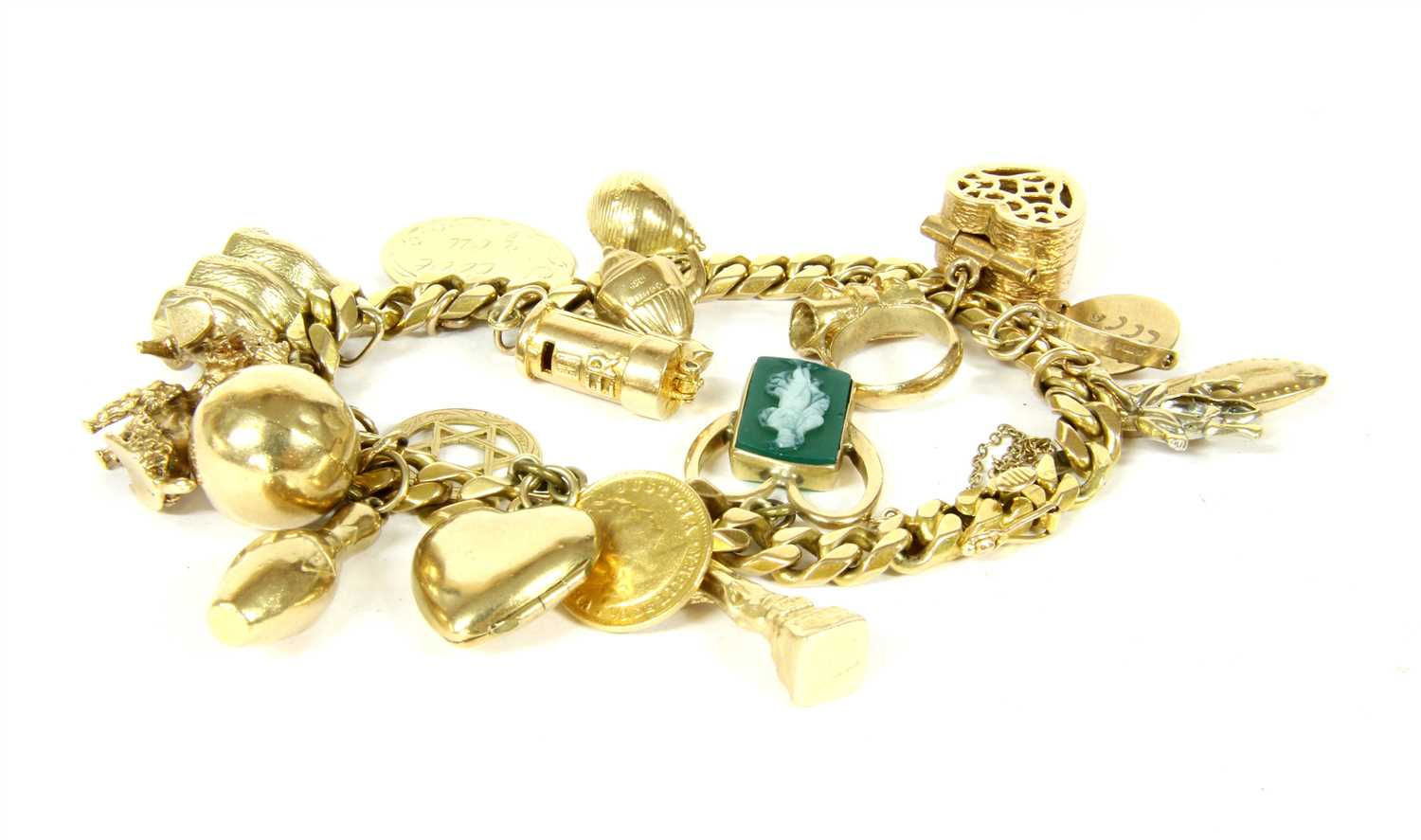 Lot 1019-A Continental gold filed curb bracelet
