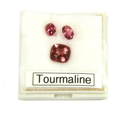 Lot 6-Three unmounted pink tourmalines
