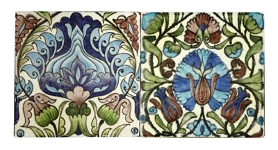Lot 3-Two William De Morgan tiles