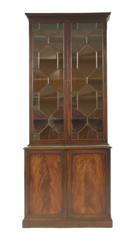 A George III mahogany bookcase,