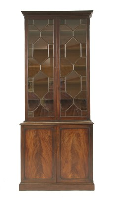 Lot 29-A George III mahogany bookcase