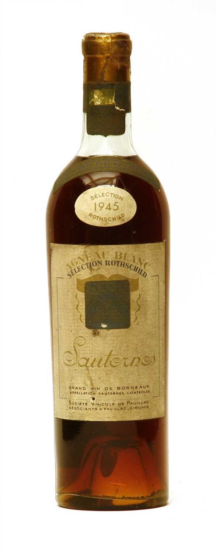 Lot 19-Selection Rothschild, Agneau Blanc, Sauternes, 1945, one bottle