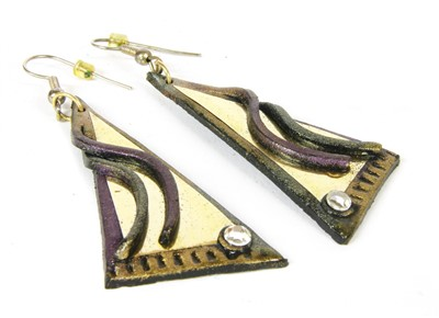 Lot 50A - A pair of earrings by Andrew Logan (b.1945)