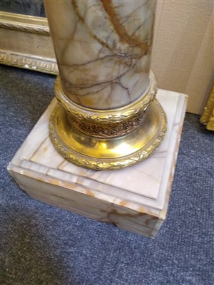 Lot 14-A pair of alabaster columns