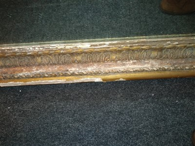 Lot 2-A pair of large gilt gesso picture frames