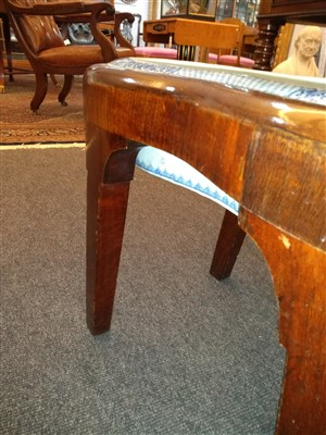 Lot 18-A Chippendale period mahogany bidet and cover